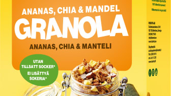 Granola ananas, chia & mandel.