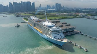 The Singapore-homeported Ovation of the Seas