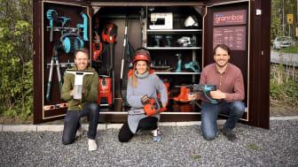 Johannes Dahlberg, Marina Kaleva och Alexander Engl, vd, är grundare till Ihopa.