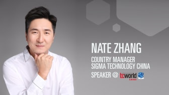Nate Zhang, Country Manager at Sigma Technology China, will speak at tcworld China in Shanghai.