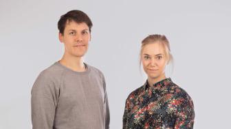 Pelle Almquist & Saga Undén från BOOST Thyroid är 1 utav 10 nominerade finalister i Venture Cup region syd. Foto: Viktor Holm