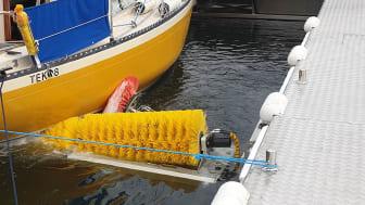 Kalmar har en båtbottentvätt