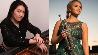 Solisterna Mélodie Zhao, piano och Matilda Lloyd, trumpet