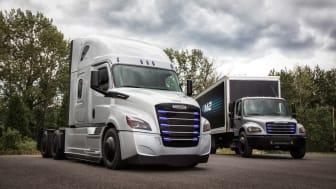 Daimler visar två helt nya eldrivna lastbilar för den amerikanska marknaden.