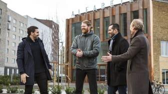 Peter Bláha, Andreas Lindberg, Benny Valtersson och Carl-Fredrik Grönhagen i nytt samarbete.