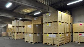 Huvuddelen av den materiel och utrustning som används vid internationella insatser finns i förråd i Kristinehamn.