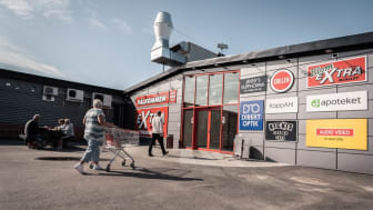 Mjällby handelscentrum. Foto: Sölvesborgs kommun