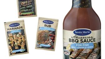 Santa Maria lanserar BBQ-nyheter - för mer fisk och grönt på grillen