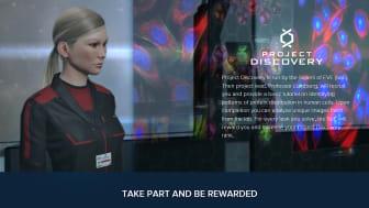 Proteinforskning från KTH och Scilifelab tar plats i datorspelet Eve Online. Här syns Emma Lundberg.