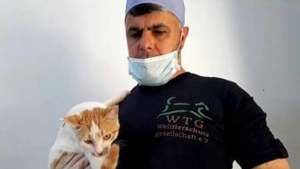 Die Welttierschutzgesellschaft hat die Anstellung von Tierarzt Dr. Mohamad Youssef in Aleppo ermöglicht.