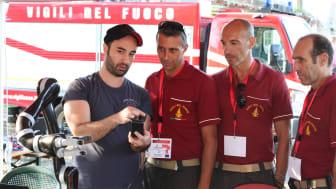 Brandroboten testades nyligen av brandmän i Italien.