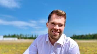 Daniel Andersson, ny byggnadsingenjör på Urbangreen