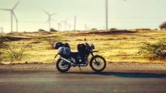 Barista på motorcykel