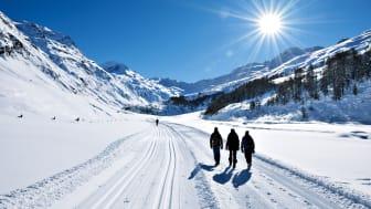 Winterwanderung im malerischen Fextal im Engadin, Kanton Graubünden © Copyright by Switzerland Tourism / By-Line swiss-image.ch Fotograf Robert Boesch