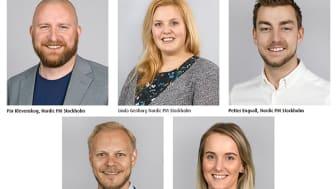 Fem nya medarbetare
