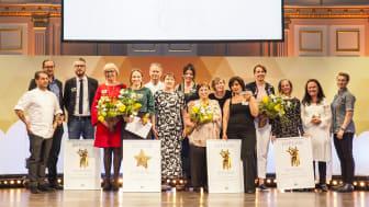 Vinnarna av Arla Guldko 2018 och Årets Guldstjärna 2018 samt jurykockar.