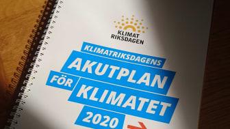 Akutplan för klimatet lanseras av Klimatriksdagen!