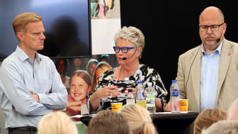 Jens Henriksson Folksam, Eva Eriksson SPF och Karl-Petter Thorwaldsson LO.