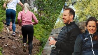 Trail run med Emil och Anna Jönsson Haag