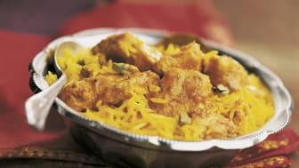 Indisk Butter Chicken Riz Pilaf