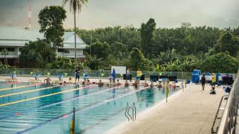 Svenska Simlandslaget på plats i Thanyapura, Thailand.