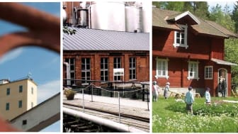 Stripa gruvmiljö, Frövifors pappersbruksmuseum och Munkhyttans skola - tre kulturmiljöer i Lindesbergs kommun.