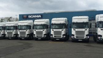 10 Scania til Edelskov Transport i Padborg