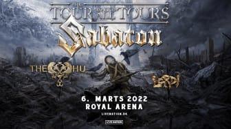 "SABATON annoncerer ""The Tour To End All Tours"" med THE HU og LORDI"