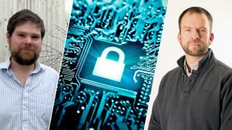 Kim Kargaard og professor Iain Sutherland. Foto Noroff og Shutterstock (midten)