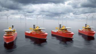 Enova ser at nødvendige drivere for å sikre videre utbredelse av batterier innen offshoreflåten er på plass. Det gir et konkurransefortrinn (grafisk ill: Østensjø)