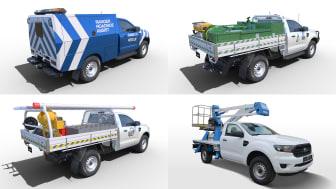 A kiváló terepképességű Ford Ranger jövőre jön felépítményezhető fülkés alváz kivitelben is