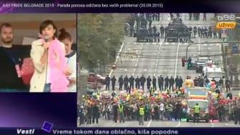 Beograd Pride 2015. Skjermdump fra Youtube: https://youtu.be/sPq2ChEPIyk
