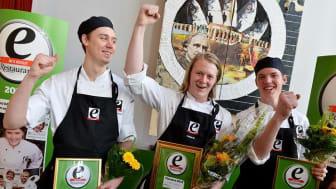 """Viktor Ellström (mitten) är """"Årets kockelev"""" 2013"""