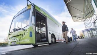 Englands första buss som drivs enbart av människors avfall.