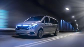 Mercedes-Benz Concept EQV som visas på bilsalongen i Geneve, är världens första eldrivna MPV i premiumklassen.