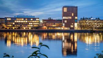 Bildmuseet på Konstnärligt campus. Arkitiektur: Henning Larsen Architects. Foto: Johan Gunséus