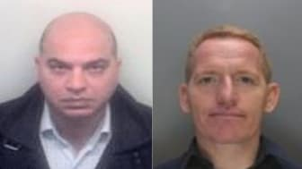 Aquil Ahmed (L) and Victor Shearer (R)  Accountant and construction boss ordered to pay back £3.5 million (SE 01.18)