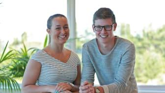 Praktikanterna Cornelia och Alexander har byggt en webbplattform där företag kan lägga upp projekt som de vill att gymnasielever ska ta sig an.