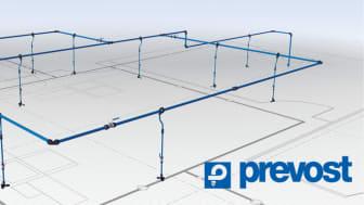 Prevosts system er et komplet pneumatisk system, som består af omkring 40 komponenter, som f.eks. koblinger, vinkler, rør, tilslutninger, værktøj og tilbehør.