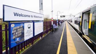 Waterbeach station platform has been extended