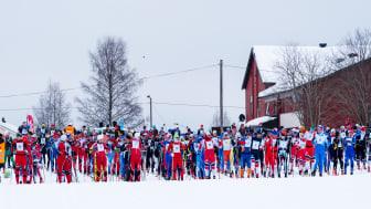 I 2018 stod det drøyt 500 menn og kvinner på startstreken under Trysil Skimaraton. Foto: Jonas Sjögren