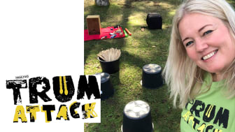 Anna-Karin Henrell möter elever i Osby med workshoppen Trumattack!