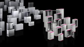 Med den nyudviklede plasttavle har Rittal nu afrundet sin AX-serie af kompakte tavler.