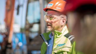 Bild: Michael Eng, Filialchef på Stena Recycling i Borås, och en av de drivande personerna som vill öka återvinningen av stenull inom byggbranschen.