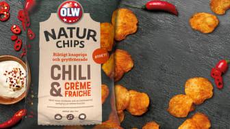 OLW Naturchips Chili & Crème Fraiche.