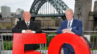 Lloyd Sheriff (left) with Go North East managing director Kevin Carr
