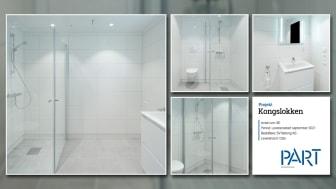Part levererar 80 badrum till projektet Kongslokken i Oslo.