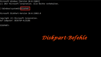 Diskpart-Befehle