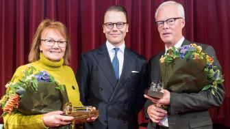 Marie Berglund, ordförande Eurocon Consulting AB, H.K.H. Prins Daniel och Alf Göransson, ordförande i Loomis AB