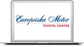 Europeiska motor logo på en datorskärm